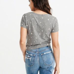Abercrombie & Fitch Tops - Abercrombie and Fitch knot front tee